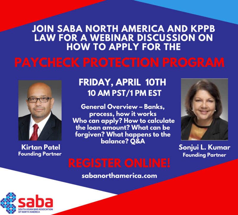 SABA North America webinar with KPPB LAW — flyer