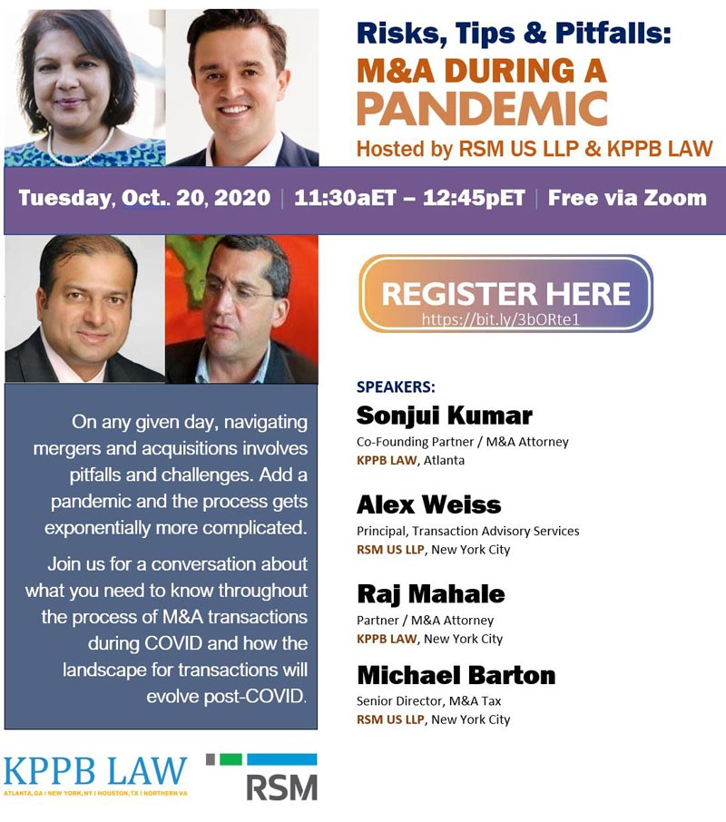 KPPB LAW October 2020 webinar flyer